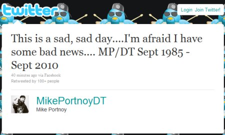 Mike Portnoy quits Dream Theater..(No shit, it's a sinking ship...)