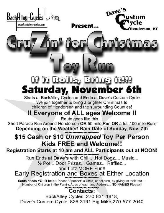 """CruZin"" For Christmas Toy Run"