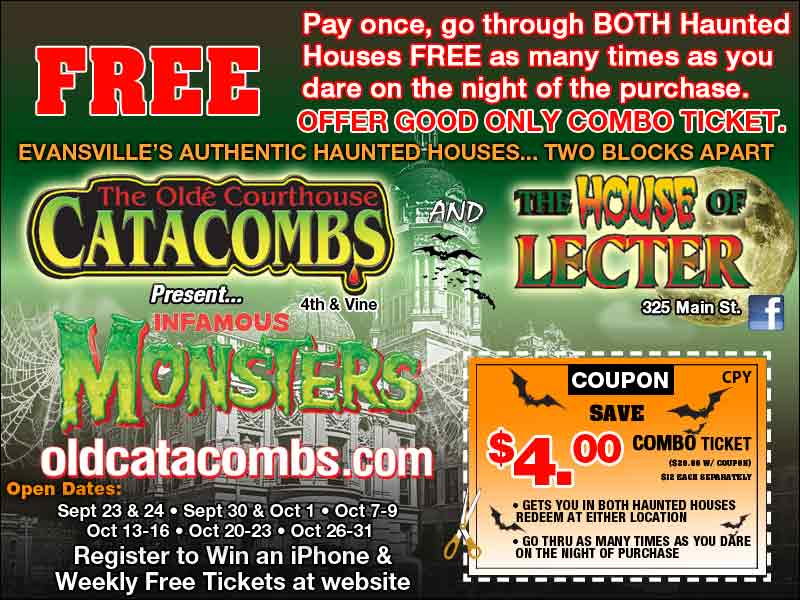 Old CataCombs and The House of Lecter Coupon! Save 4 Bucks!
