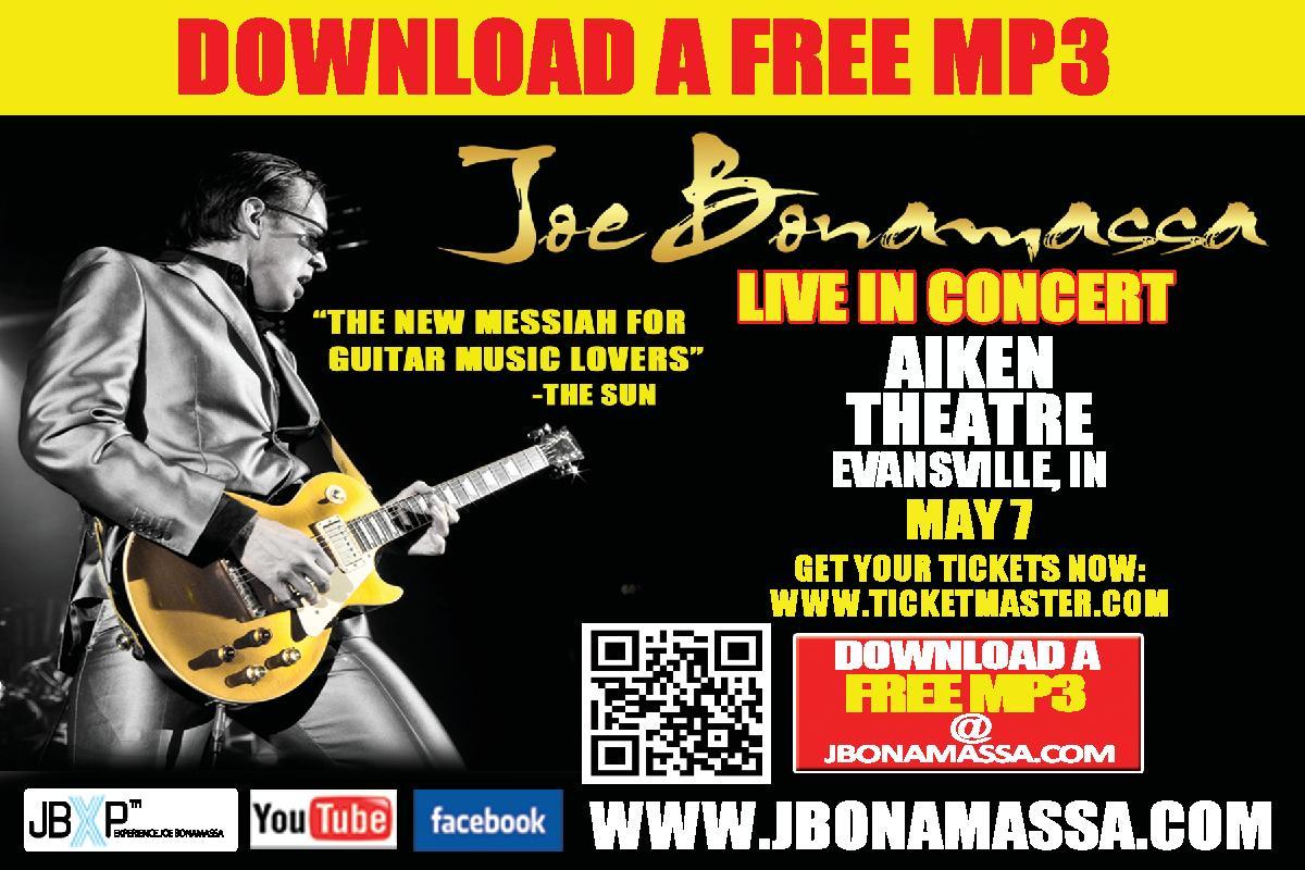 Joe Bonamassa May 7th, 2012 Evansville Indiana Aiken Theatre