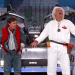 Marty McFly and Doc Brown return on  Jimmy Kimmel Live! Awesome!